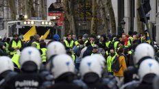 En Bruselas. Los chalecos amarillos coparon Bruselas el sábado. Hubo serios incidentes.