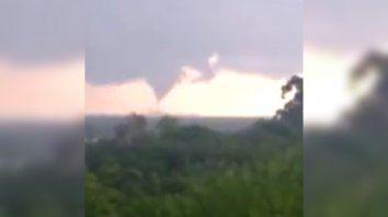 Tornado en Entre Ríos, cerca del límite con Santa Fe