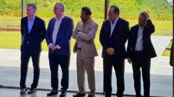 Macri dejó inaugurado un lujoso hotel junto a las cataratas