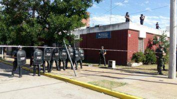En los tribunales. La seguridad se extremó para evitar desbordes.
