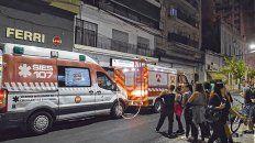 Conmoción. El accidente se produjo cerca de las 20 en el edificio California, de Rioja 1351.