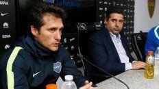 Otras vez juntos. Guillermo y el DT se encontraron después de la derrota en Madrid.