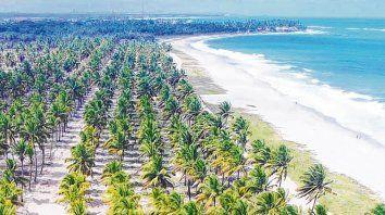 Balnearios. Porto Galinhas cuenta con 18 kilómetros de playa de arena fina y blanca lejos de los ruidos de la ciudad.
