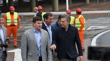 Cambiemos. Angelini y Macri, en una de las últimas visitas que hizo el presidente a Rosario.