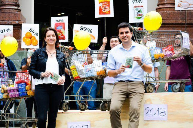 El estudio de costo de vida fue presentado por la diputada nacional Lucila De Ponti y el concejal Eduardo Toniolli.