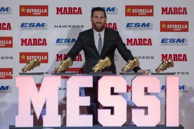 Messi se convirtió en el máximo ganador de la Bota de Oro