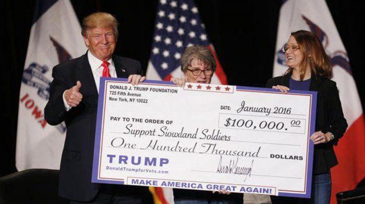 Trump cerró su fundación tras una investigación fiscal.