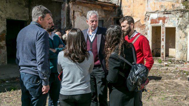 En grupo. Cantini (de frente)