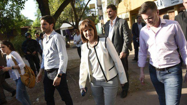 Bullrich junto a Pullaro durante su última visita a Rosario