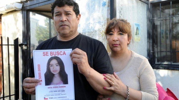 Conmovedor. Los padres de Sofía Herrera la buscan hace diez años.