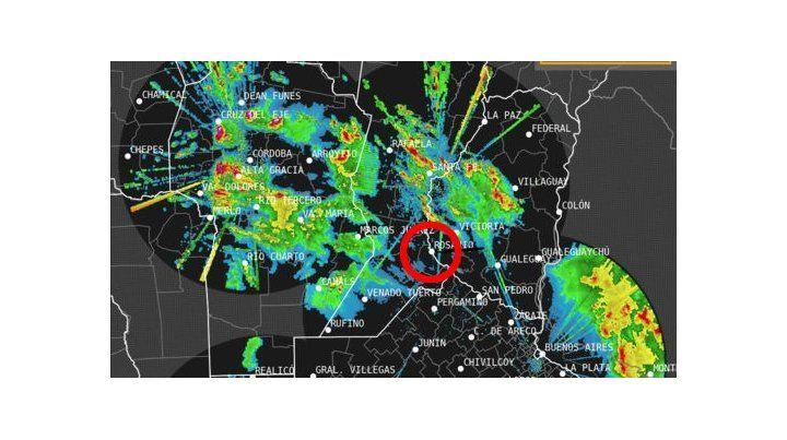 Rosario y la región están en medio de un frente de tormenta.