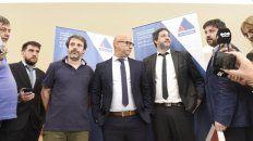 Investigadores. Los fiscales Vescovo, Moreno, Serjal y Edery, ayer, en el MPA.