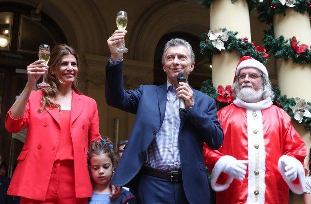 El presidente Mauricio Macri y la primera dama