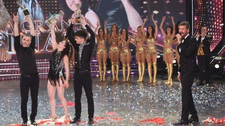 En la cima. Los ganadores Julián Serrano y Sofía Morandi.