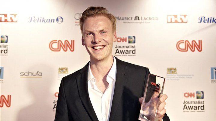 Galardonado. La CNN lo nombró Periodista del año y Forbes lo puso en su lista de personas influyentes.
