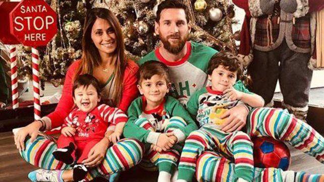 Antonela publicó fotos de la Navidad de los Messi en Rosario