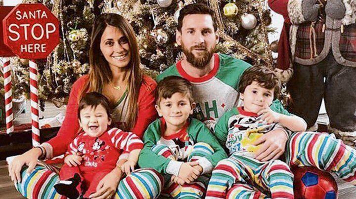Navidad feliz en Rosario de Lionel Messi y familia