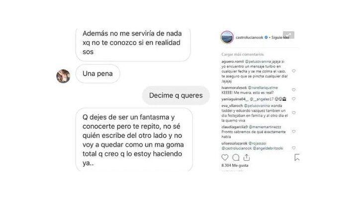 Tras misteriosos mensajes, Sabrina Rojas y Luciano Castro dijeron que los hackearon