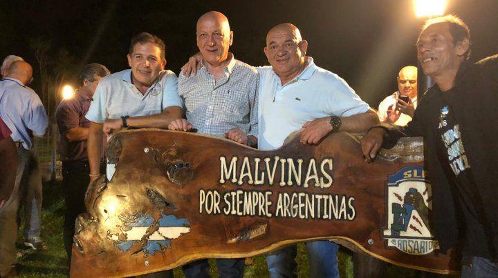 Bonfatti despidió el año junto a los excombatientes de Malvinas