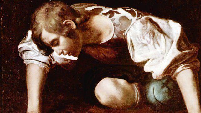 Narciso. El famoso cuadro del pintor Caravaggio.