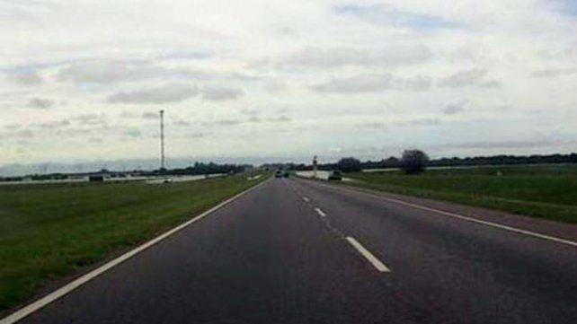 La autopista a la altura de Baradero