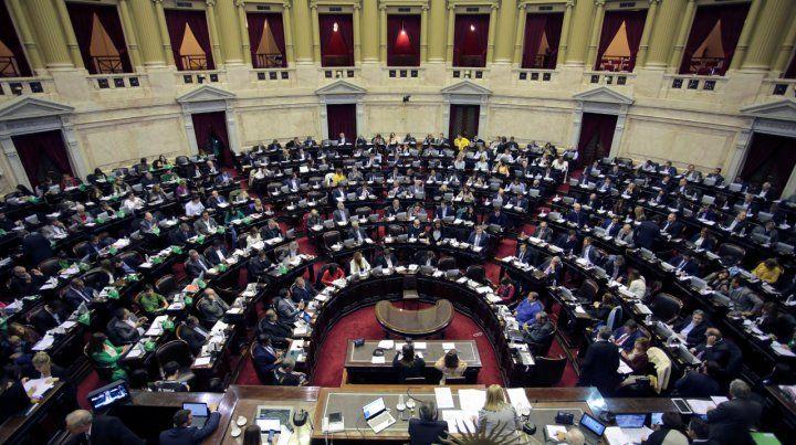 Bancas. La Cámara de Diputados tuvo un escaso trabajo parlamentario producto de las fricciones políticas.