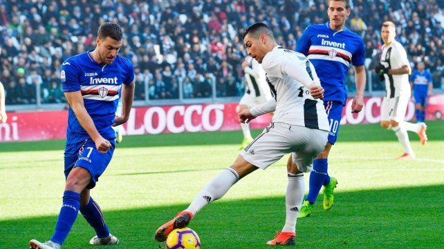 Cristiano marcó los dos goles de Juventus