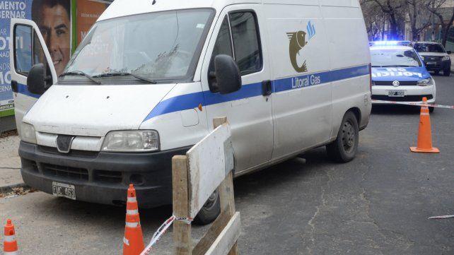 Una cuadrilla trabajaba cerca del centro por un posible escape de gas
