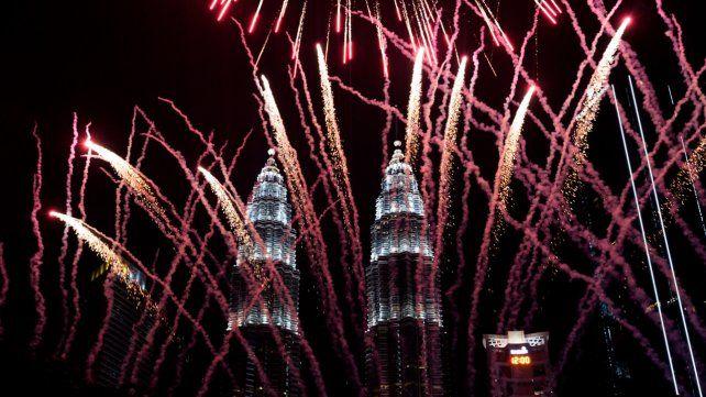 Los festejos en Malasia.
