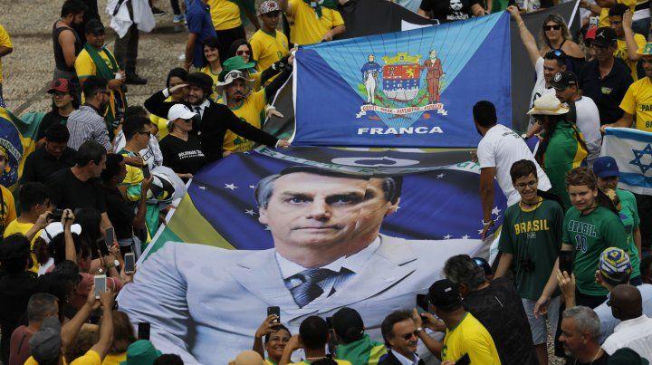 Una marea verde y amarilla en la asunción del Bolsonaro