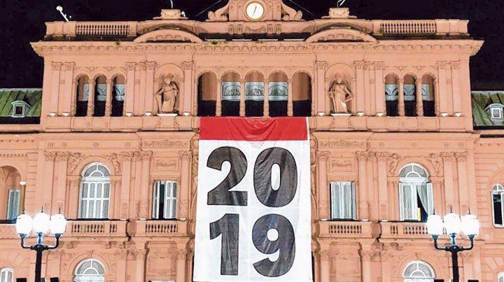 Casa Rosada. El gobierno quiso transmitir un mensaje de esperanza con la llegada del nuevo año.