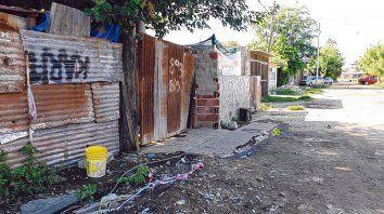 Campbell 800 bis. La vivienda precaria donde asesinaron a Luis García y Kevin Roldán.el 30 de diciembre.