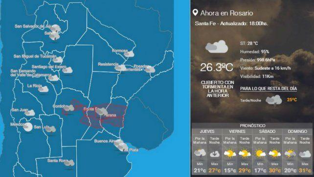 Pese a la lluvia, sigue vigente el alerta en Rosario y la región