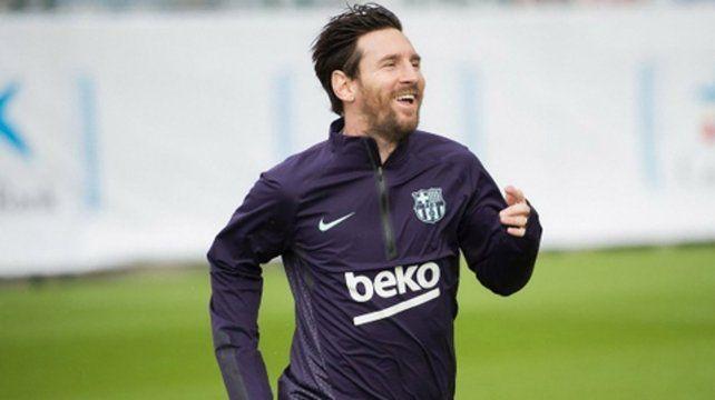 Messi se sumó a los entrenamientos