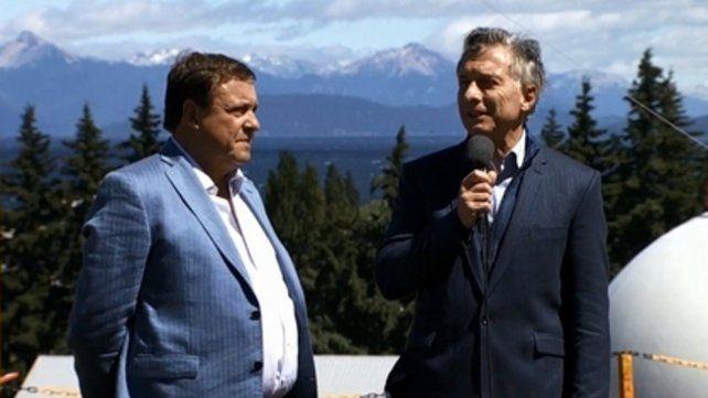 Bariloche. El gobernador Weretilneck y Macri inauguraron un gasoducto.