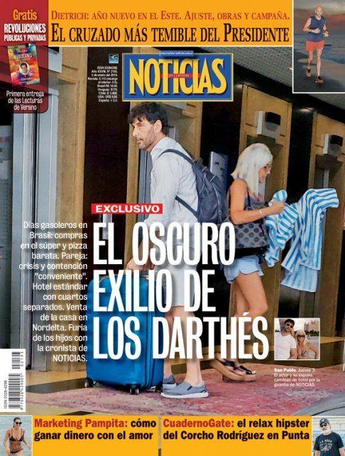 El hijo mayor de Darthés encaró a la periodista de la revista Noticias y le arrebató su teléfono celular.