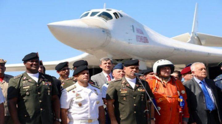 Vínculos peligrosos. Uno de los bombarderos estratégicos rusos Tupolev enviados a Venezuela en diciembre.
