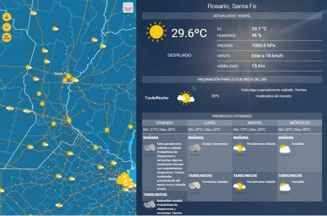 Rosario y la región, en alerta por amenaza de tormentas intensas