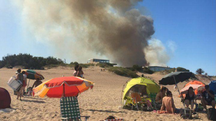 Alarma en Villa Gesell por un gran incendio forestal