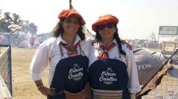 Mara y Alicia, las asadoras de la región que se unirán a otras dos competidoras para formar el equipo.