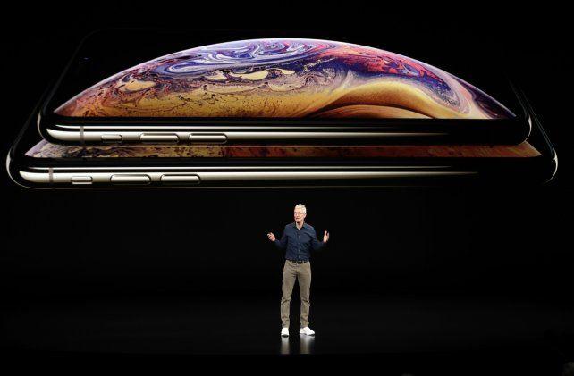 Aquí está. Tim Cook presentaba los nuevos iPhone en la sede central de Apple en septiembre pasado.