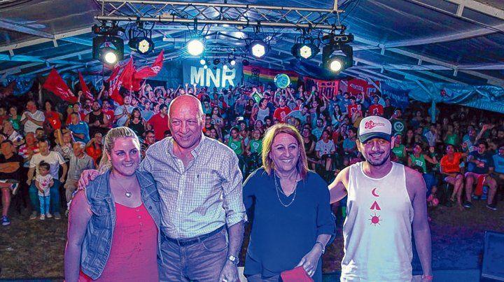 En San Nicolás. Bonfatti y Fein compartieron la tradicional convocatoria de los jóvenes militantes del Partido Socialista (PS).