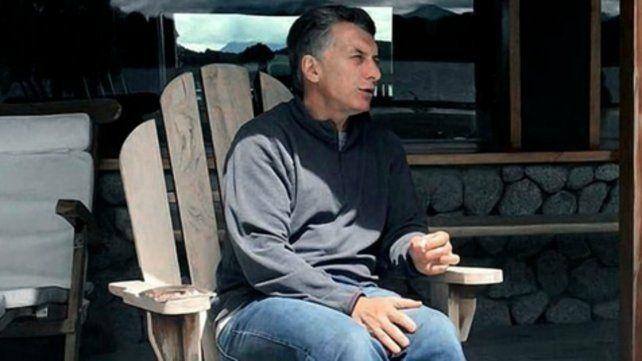 El jefe del Estado habló sobre la crisis desde su casa de Villa La Angostura.