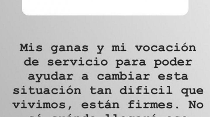 Tinelli habló de su futuro político en Instagram