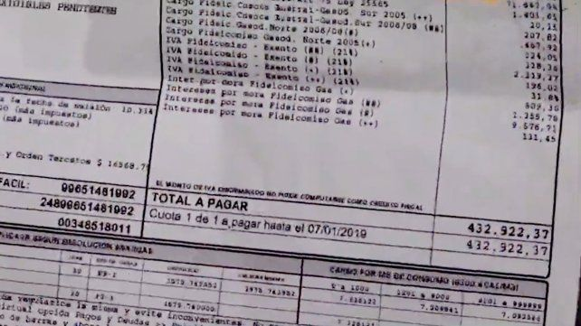 A un club de Villa Gobernador Gálvez le llegó una boleta de gas de 432 mil pesos