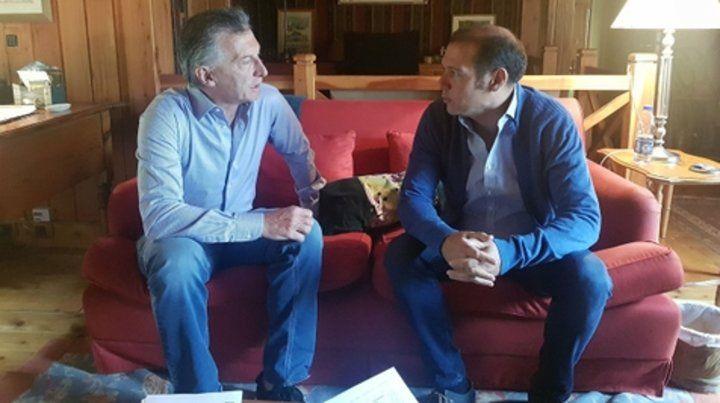 En Cumelén. El presidente recibió ayer al gobernador neuquino.