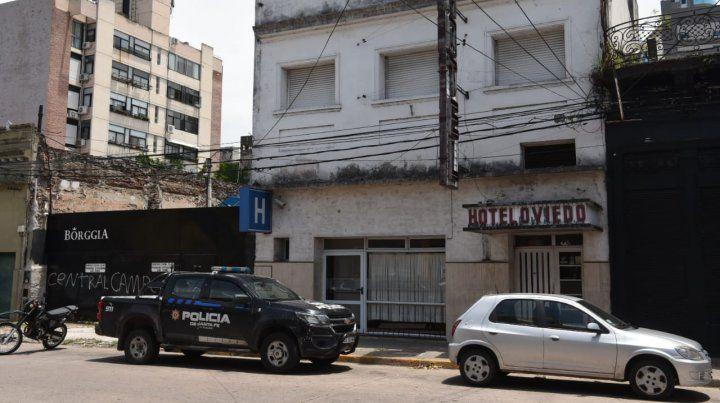 El frente del hotel Oviedo