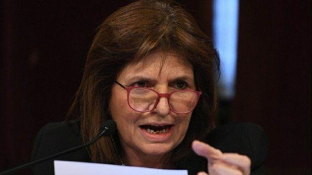 Ministra. Patricia Bullrich anunció el lunes el proyecto que el gobierno pondrá en debate en el Congreso.