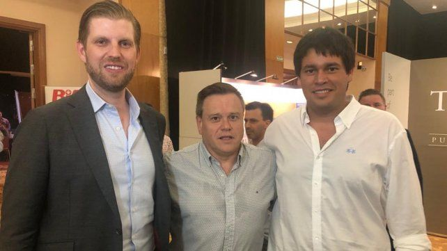 El hijo de Trump en la Expo Real Estate