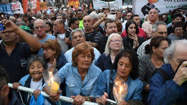Las CTA y transportistas marcharon en Buenos Aires contra los tarifazos